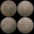London Coins : A156 : Lot 803 : Halfpennies 18th Century Scotland - Angusshire (3) Forfar 1797 Castle/View of town DH26 Good Fine/Fi...