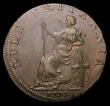 London Coins : A156 : Lot 891 : Halfpenny 18th Century Wales - Anglesey 1795 Druid/Britannia seated, engrailed edge DH429 GVF/NEF, R...