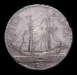 London Coins : A156 : Lot 900 : Halfpenny 18th Century Warwickshire - Wilkinson's 1788 DH337 struck in silver, Fine with some s...