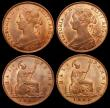 London Coins : A157 : Lot 1064 : Halfpennies (3) 1861 Freeman 282 dies 7+G (2), 1874H Freeman 318 dies 10+J all UNC with traces of lu...
