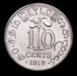 London Coins : A157 : Lot 1357 : Ceylon 10 Cents 1919 VIP Proof/Proof of record KM#104a nFDC and lustrous, Very Rare, we note there a...