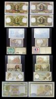London Coins : A157 : Lot 140 : France (22) Assignat 5 Livres PickA50 dated 1791, 500 Francs Pick95b dated 1942, 50 Francs (2) dated...