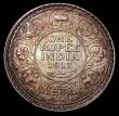 London Coins : A157 : Lot 1477 : India One Rupee 1913 Bombay KM#524 UNC or very near so and choice with a superb deep gold and olive ...