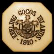 London Coins : A157 : Lot 1530 : Keeling Cocos Islands 5 Rupees 1913 in Plastic Ivory (No.699) KM#Tn7 A/UNC Extremely Rare in this gr...