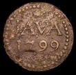 London Coins : A157 : Lot 1554 : Netherlands East Indies- Java Stuiver 1799 Scholten 553 VG with some pitting, scarce