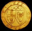 London Coins : A157 : Lot 1977 : Unite Commonwealth 1653 S.3208 Mintmark Sun VF desirable thus