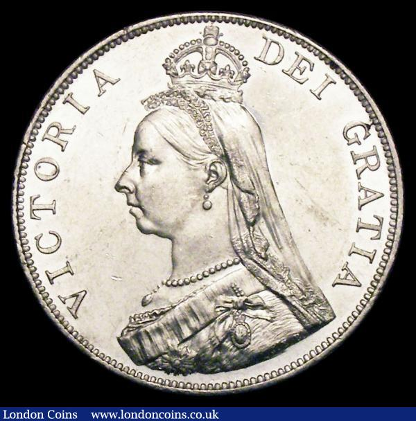 Double Florin 1889 Second I in VICTORIA an inverted 1 ESC