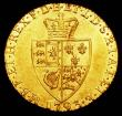 London Coins : A157 : Lot 2279 : Guinea 1793 S.3729 NEF and lustrous with a small striking flaw on the shield