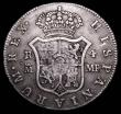 London Coins : A157 : Lot 2282 : Half Dollar 1796 Bull 1866 George III with Octagonal Countermark on Spain Madrid 4 Reales Countermar...