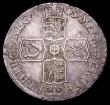 London Coins : A157 : Lot 2428 : Halfcrown 1709 OCTAVO ESC 579 VF and nicely toned, with some scuffs on the edge by GRATIA and corres...