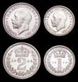 London Coins : A157 : Lot 2781 : Maundy Set 1934 ESC 2551 A/UNC to UNC and lustrous, the Fourpence with a small area of very light to...