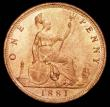 London Coins : A157 : Lot 2894 : Penny 1881 Freeman 102 dies 9+J UNC with around 70% lustre, Ex-Carlisle 9/3/2006 Lot 252