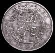 London Coins : A157 : Lot 759 : Mint Error - Mis-strike Halfcrown 1817 Small Head a spectacular double strike with the second strike...