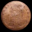 London Coins : A157 : Lot 769 : Mint Error - Mis-Strike Reverse Brockage Halfpenny 1886, Near Fine