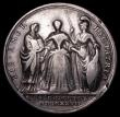 London Coins : A157 : Lot 901 : Queen Caroline Coronation 1727 34mm diameter in silver by J.Croker Eimer 512 Obverse Bust left weari...