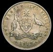 London Coins : A158 : Lot 1013 : Australia Florin 1912 KM#27 NVF the reverse with some toning in the field