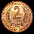 London Coins : A158 : Lot 1091 : East Caribbean States - British Caribbean Territories 2 Cents 1960 VIP Proof/Proof of record KM#3 UN...