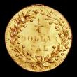 London Coins : A158 : Lot 1355 : USA California Gold Quarter Dollar 1874 Round EF with a light crease mark