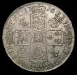London Coins : A158 : Lot 1805 : Crown 1716 Roses and Plumes ESC 110 GVF with a small dig in the field on either side, a couple of sm...