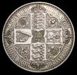 London Coins : A158 : Lot 1821 : Crown 1847 Gothic UNDECIMO ESC 288 EF cleaned
