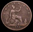 London Coins : A158 : Lot 1913 : Farthing 1874H G's over sideways G's Freeman 527 dies 4+C, VG Rare