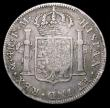 London Coins : A158 : Lot 2023 : Half Dollar George III Octagonal Countermark on a Mexico 4 Reales 1789Mo (Mexico City) countermark V...