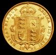 London Coins : A158 : Lot 2110 : Half Sovereign 1892 No JEB on truncation, Lower Shield with date spread S.3869D GVF/NEF