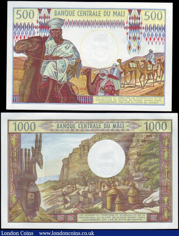 Mali (2) 1000 Francs & 500 Francs issued 1970 - 1984, Pick13b & Pick12e, Uncirculated : World Banknotes : Auction 158 : Lot 384