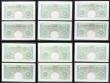 London Coins : A158 : Lot 41 : One Pound Peppiatt (12) B238 issued 1934, 6 consecutively numbered pairs including a last series pai...