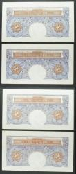 London Coins : A158 : Lot 51 : One Pound Peppiatt (4) B249 blue emergency issue 1940, 2 consecutively numbered pairs, series C92H 9...