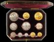 London Coins : A158 : Lot 575 : 1887 Golden Jubilee Currency Set Victoria 11 Coins Gold Five Pounds to Threepence GEF-UNC, many coin...