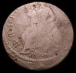 London Coins : A158 : Lot 802 : Mint Error - Mis-Strike Halfpenny 1696 struck off-centre with around 4mm blank flan at the lower rev...