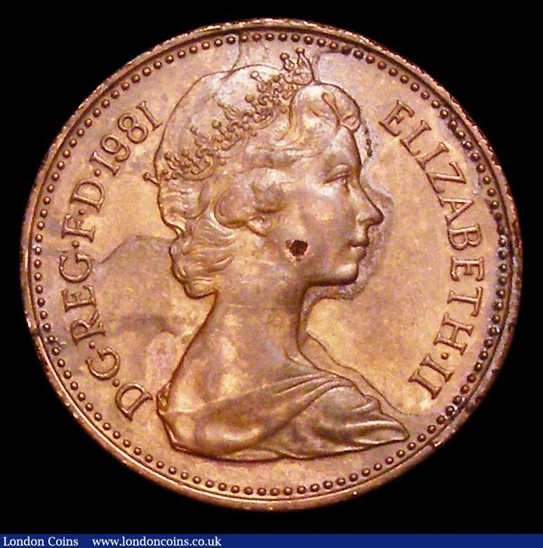 Penny 1981 trial die Obverse as the adopted coin with Machin bust, t