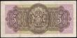 London Coins : A159 : Lot 1597 : Bermuda Government 5 Shillings dated 12th May 1937 series K/1 338336, portrait King George VI at cen...