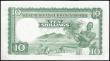 London Coins : A159 : Lot 1607 : British West Africa 10 Shillings last date of issue 4th February 1958 series A/V 492624, river scene...