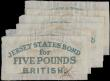 London Coins : A159 : Lot 1769 : Jersey States 5 Pounds (6) dated 1840, British administration interest bearing note, pen cancelled, ...