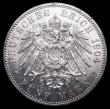 London Coins : A159 : Lot 2010 : German States - Mecklenburg-Schwerin 5 Marks 1904A KM#334 UNC or very near so and lustrous with mino...