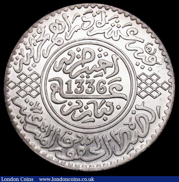 Morocco Rial (10 Dirhams) AH1336 (1918) Y#33 UNC and lustrous : World Coins : Auction 159 : Lot 2099