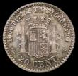 London Coins : A159 : Lot 2154 : Spain 20 Centimos 1870 (70) SN-M KM#650 EF toned with underlying lustre, Rare with a mintage of just...