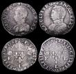 London Coins : A159 : Lot 2433 : France Testons (3) 1562L Bayonne, Reverse Crowned shield flanked by crowned K's VG or slightly ...