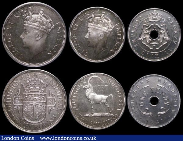 Southern Rhodesia VIP Proof/Proof of record 6-coin set 1937