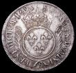 London Coins : A159 : Lot 3107 : France Ecu 1695 Rennes Mint, mintmark 9 KM#298.24 Good Fine and bold, clearly showing traces of the ...