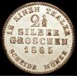 London Coins : A159 : Lot 3143 : German States - Hesse-Cassel 2 1/2 Silber Groschen 1865 KM#620 VF