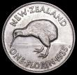 London Coins : A159 : Lot 3310 : New Zealand Florin 1935 KM#4 UNC or near so and lustrous with light cabinet friction
