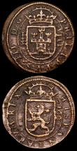 London Coins : A159 : Lot 3387 : Spain (2)  8 Maravedis 1604 Segovia Mint , mintmark Aqueduct About VF, comes with old collector'...