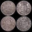 London Coins : A159 : Lot 3392 : Spain 1 Real (4) 1732 PA KM#354 NEF, comes with old collector's ticket 'Seaby 1955 2/6...