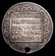 London Coins : A159 : Lot 419 : Birth of Prince Charles (King Charles II) 1630 30mm diameter in silver Eimer 115 Obverse four shield...