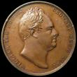 London Coins : A159 : Lot 535 : William IV Coronation 1831 struck in Copper 33 mm diameter, by W.Wyon, Eimer 1251 Obverse WILLIAM TH...