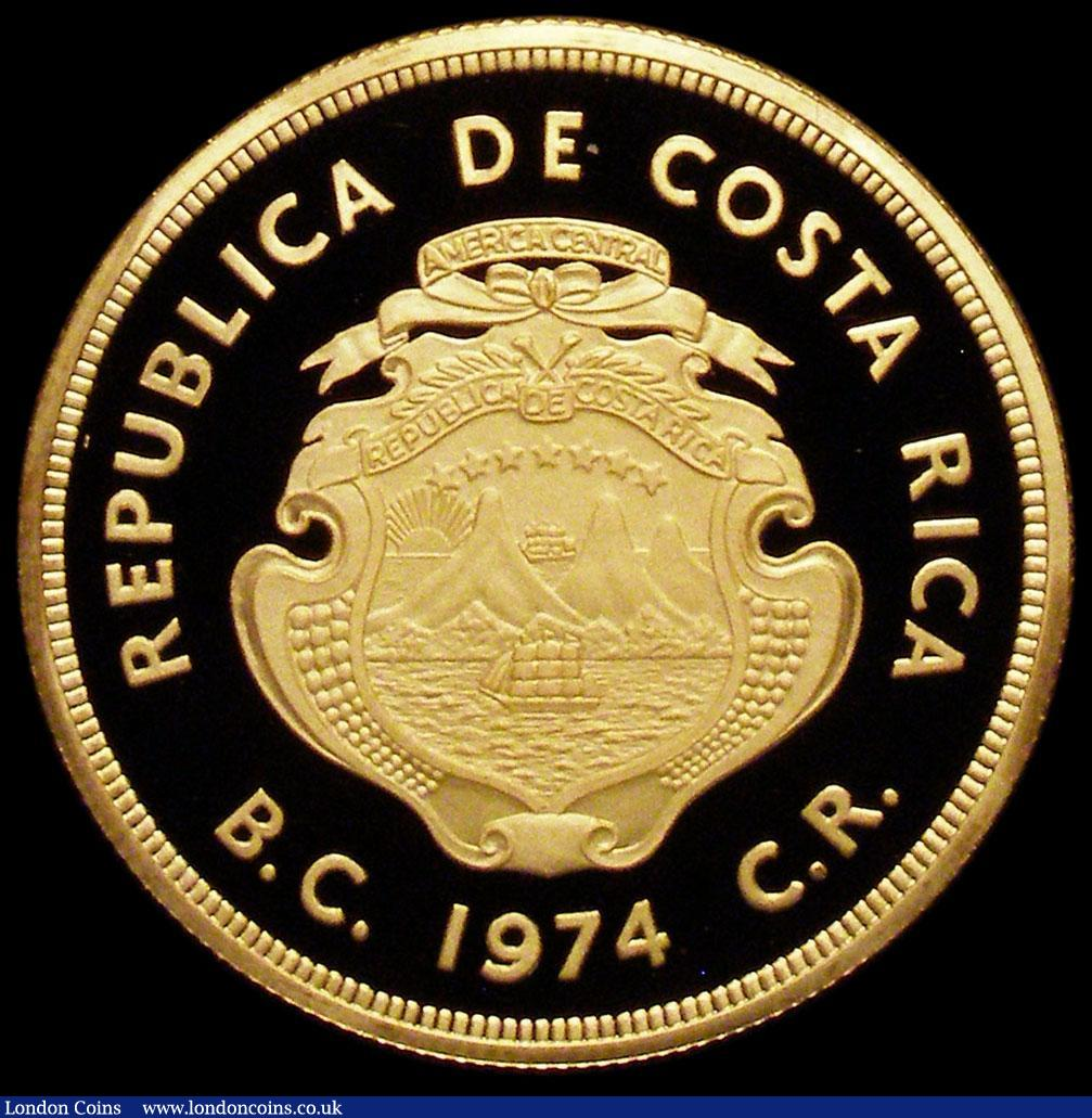 Costa Rica 1500 Colones 1974 Conservation Series Km222 Gold Proof Fd