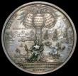 London Coins : A160 : Lot 1757 : British Victories 1704 40mm diameter in silver by G.Hautsch, Eimer 411, Obverse: Bust left, draped, ...